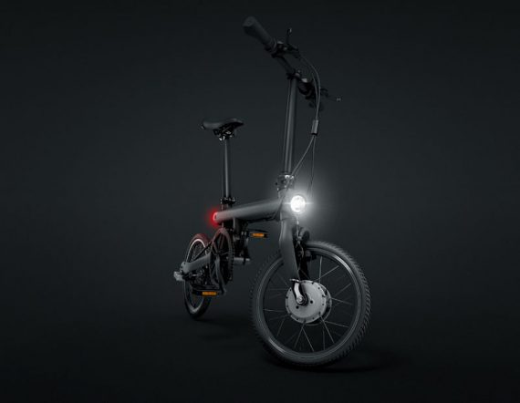 Bicicleta electrica plegable Xiaomi Qicycle negra